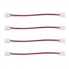 Connettore Doppio 2Pin 8mm + cavo di 15cm (per strisce LED) -(Conf. 4pz)