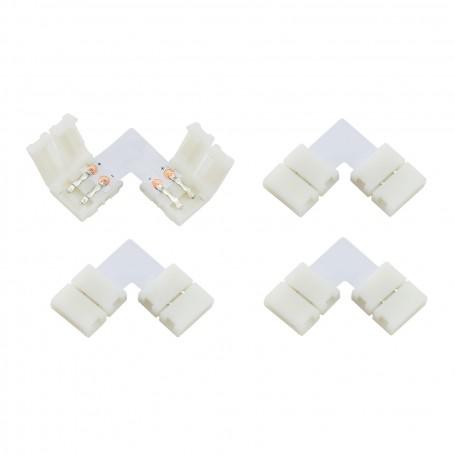 Connettore Angolare 2Pin 10mm (per strisce LED) -(conf. 4pz)