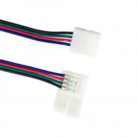 Connettore RGB 4PIN + plug maschio (per strisce LED RGB) - (conf. 4pz)