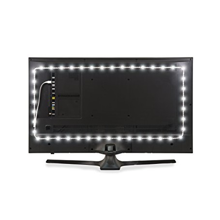 Kit 2 strisce LED 0,5m Retroschermo/TV monocolore, con presa USB