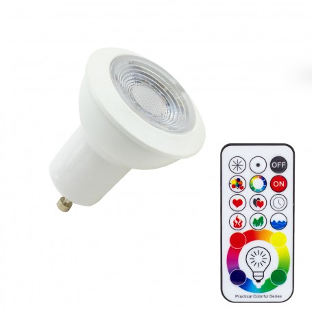 Faretto Spot GU10 3W RGBW con Telecomando