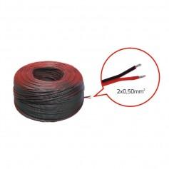 Cavo rosso/nero 2x0,50mm2– Bobina 100m