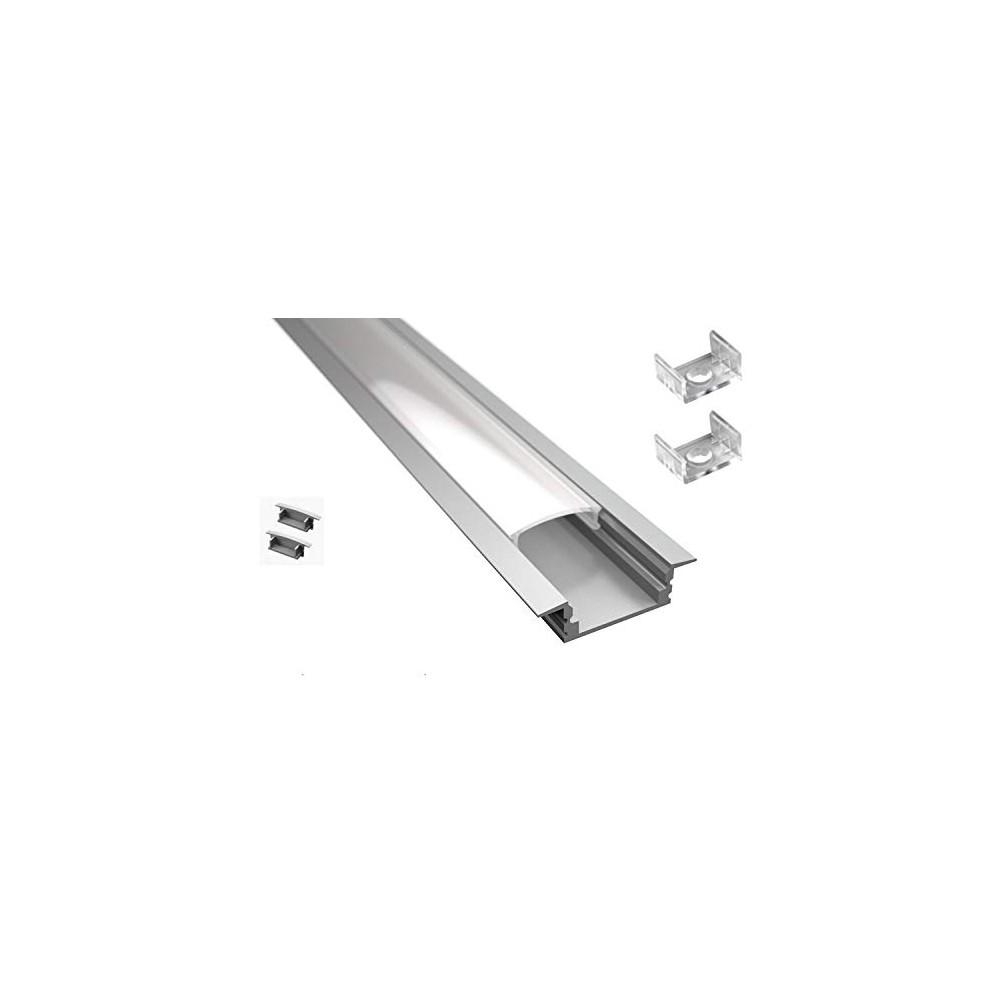 Strisce Led Per Cartongesso profilo da incasso per cartongesso da 2m in alluminio per striscia led