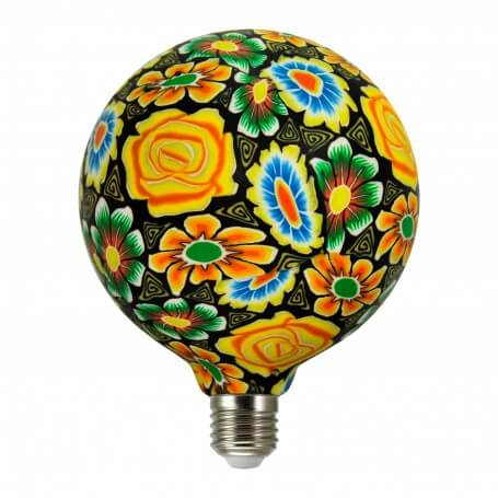Lampadina led Globo decorata 5W E27