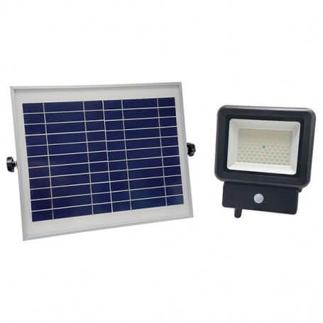 Faro LED 50W con pannello fotovoltaico e 2 sensore di movimento serie PRO