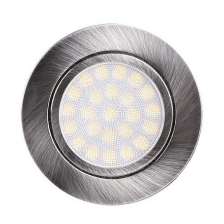 Faro da incasso LED 220V 4W, IP44, dim ø70*20mm, foro ø56mm - Satinato