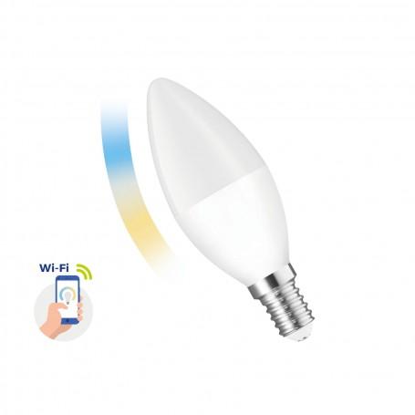 Lampada LED E14 5W smart CCT WiFi - Amazon Alexa e Google Home