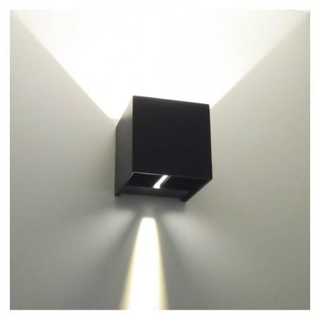 Applique LED 10W Bidirezione con fasci di Luce Regolabili 100lm/W, IP65, Nero