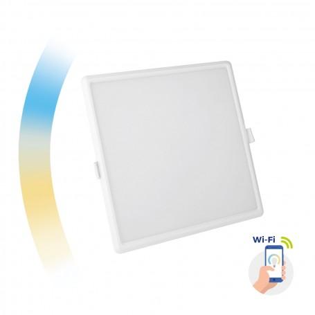 Pannello Led da incasso, quadrato, 22W CCT smart wifi