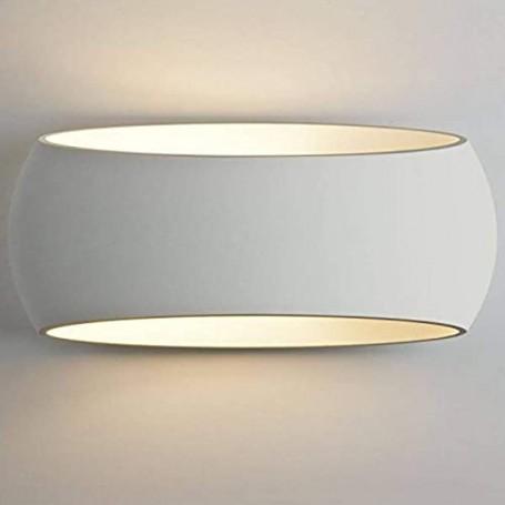 Applique in Gesso Pitturabile, 1 lampada E27