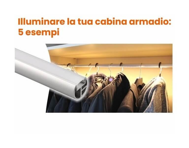 Illuminare una cabina armadio a LED: 5 esempi